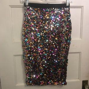 High waist sequin skirt from H&M